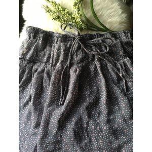Pleated Patterned Miniskirt